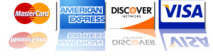 We Accept MasterCard American Express Discover and Visa